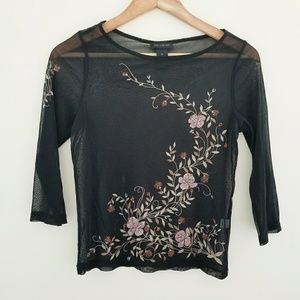 🎃 The Limited Sheer Floral Top Size S